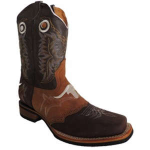 BOTA RODEO 6007 BORDADO TORO CAFE-MIEL