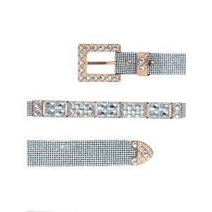 HERRAJE P/ CINTO 311-14-40 Gold/WT SET-4ps TIRAS METAL DORADO WHITE GLASS