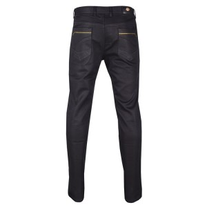 FDP6143 Mens High Quality Fashion Pants Cotton Premium Twill Color: Black