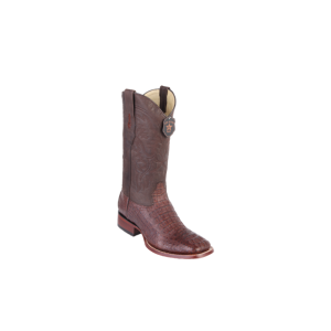 Brown Caiman Hornback Rodeo Boots