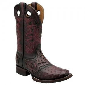 Bota Cuadra Avestruz Spurge Rodeo Black Cherry 2I03A1