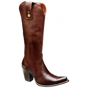 BOTA CUADRA PARA DAMA COLOR CAFE 1W52AT