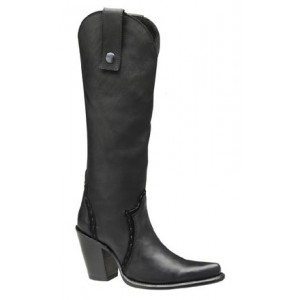 BOTA CUADRA PARA DAMA DE ANTE COLOR NEGRO 1W52AT