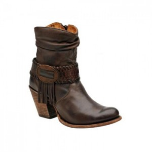 BOTIN CUADRA PARA DAMA RES COLOR CHOCOLATE 1Z57NP