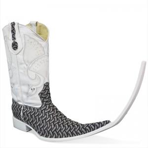 Jugo Boots® 510 Botas de Hombre Tribal Bordado Escala Negro (20 cm)