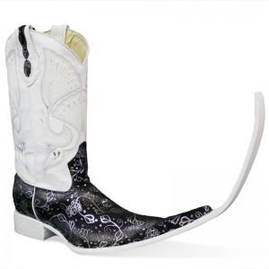 Jugo Boots® 4040 Bota de Hombre Tribal Ensueño Negro/Plata (20 cm)