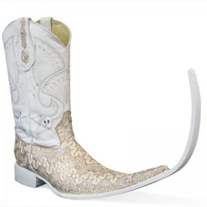 Jugo Boots® 4032 Botas de Hombre Tribal Bordado Dragón Beige (20 cm)