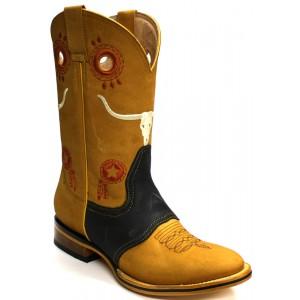 Jugo Boots® 235 Bota de Hombre Rodeo Crazy Negro-Miel