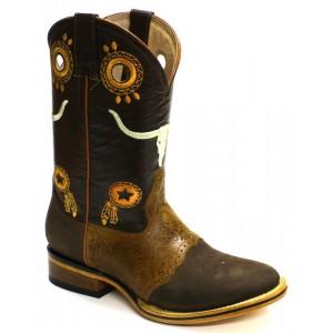 Jugo Boots® 235 Bota de Hombre Rodeo Crazy Pro-Rodeo Apache Café-Miel