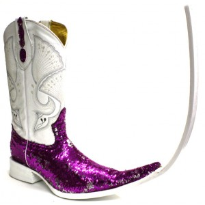 Jugo Boots® Bota Tribal de Hombre Lentejuela Bicolor Fiusha X Puntal (30 cm)