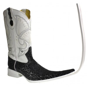 Jugo Boots® Bota Tribal de Hombre Mármol Negro X Puntal (30 cm)