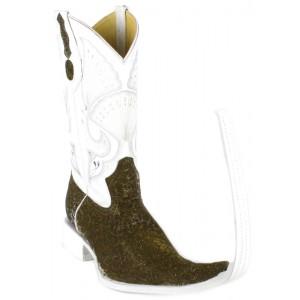 Jugo Boots® Bota Tribal de Hombre Mármol Verde (20 cm)