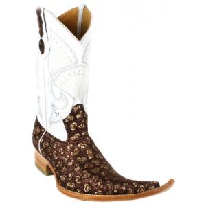 Jugo Boots® 4011 Botas de Hombre Chuntaras Corazones Vino / Dorado