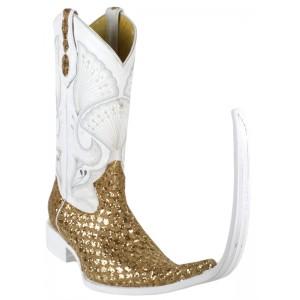 Jugo Boots® Bota de Hombre Tribal Diamante Dorado (20 cm)
