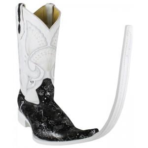 Jugo Boots® 4040 Bota de Hombre Tribal Ensueño Negro/Plata X Puntal (30 cm)