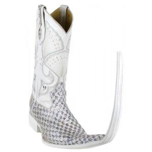 Jugo Boots® Bota de Hombre Tribal Diamante Plata (20 cm)