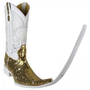 JUGO Boots® 4036 Botas Chuntaras Lentejuela Bicolor Dorado/Plata X Puntal (30 cm)