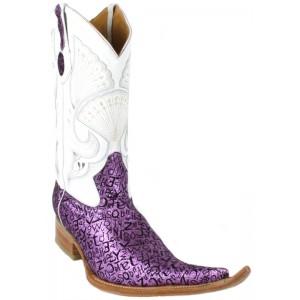 Jugo Boots® 4018 Bota de Hombre Vaquera Abecedario Fiusha/Negro Suela Natural