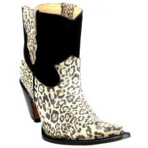 JUGO Boots® 333 Bota de Mujer-Leopardo Gamuza