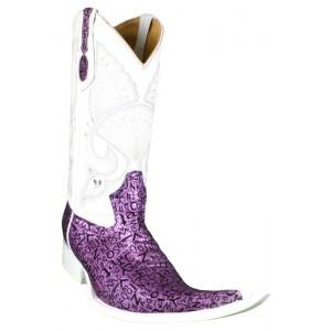 Jugo Boots® 4018 Bota de Hombre Vaquera Abecedario Fiusha/Negro Suela Blanca