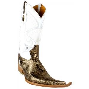Jugo Boots® 4013 Bota de Hombre Vaquera Telaraña Café / Dorado