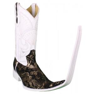 Jugo Boots® Bota Tribal de Hombre Ensueño Negro/Dorado (20 cm)