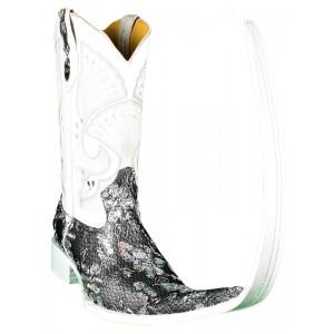 JUGO Boots® Botas Tribal de Hombre Bordado Lentejuela Flor Plata X Puntal (30 cm)
