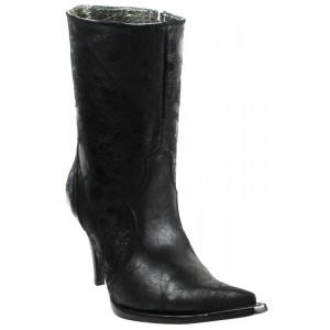 JUGO Boots® 015 Botineta de Mujer Sharpeado Negro