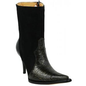 JUGO Boots® 019 Botineta de Mujer Troquelada Negra