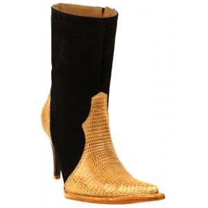 JUGO Boots® 015 Botineta de Mujer Plasma Lizard Pathe