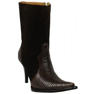 JUGO Boots® 015 Botineta de Mujer Plasma Lizard Café