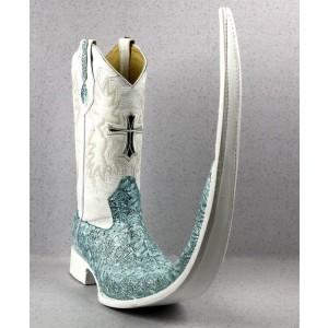 Jugo Boots® 8001 Bota de Hombre Tribal Dragón Azul X Puntal (30 cm)