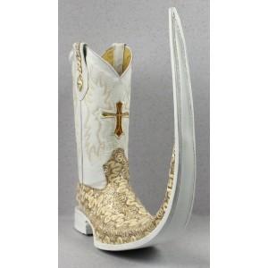 Jugo Boots® 8001 Bota de Hombre Tribal Dragón Beige X Puntal (30 cm)