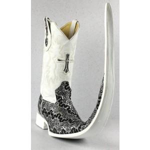 Jugo Boots® 8001 Bota de Hombre Tribal Dragón Negro / Plata X Puntal (30 cm)