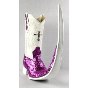 Jugo Boots® 8006 Bota de Hombre Tribal Lentejuela Fiusha / Plata X Puntal (30 cm)