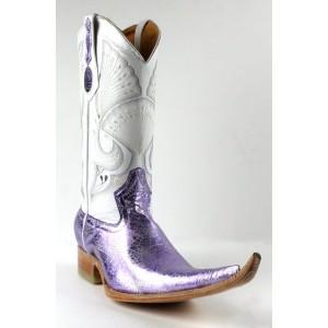 Jugo Boots® 4013 Bota de Hombre Vaquera Telaraña Lila / Plata