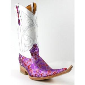 Jugo Boots® 4021 Bota de Hombre Vaquera Fantasma Lila / Rojo