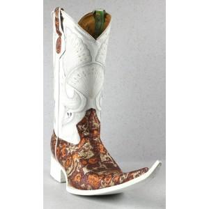 Jugo Boots® 4021 Bota de Hombre Vaquera Fantasma Vino / Dorado
