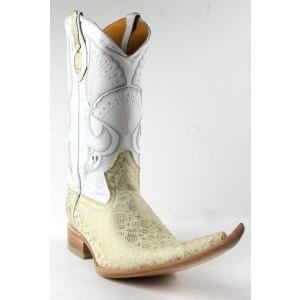Jugo Boots® 4016 Bota de Hombre Vaquera Egipcias Hueso