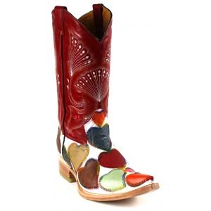 Jugo Boots® 2013 Bota de Hombre Vaquera Corazones Payaso