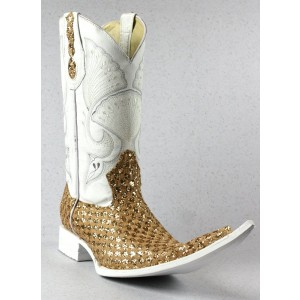 Jugo Boots® 4012 Botas de Hombre Chuntaras Diamante Dorado