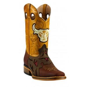 Jugo Boots® 943 Bota de Hombre Rodeo Crazy Jar Café
