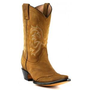 JUGO Boots® 6728 Bota Vaquera de Mujer Crazy Old West Miel
