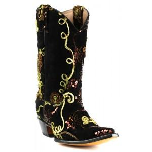 JUGO Boots® 6701 Bota Vaquera de Mujer Pentagrama Negro