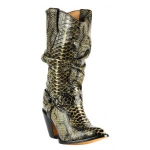 JUGO Boots® 6704 Bota de Mujer Pitón Night Café