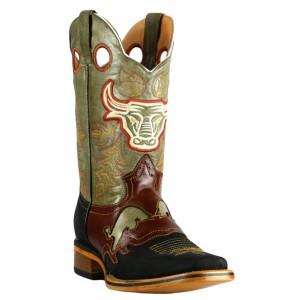 Jugo Boots® 947 Bota de Hombre Rodeo Crazy Pull Up Negro Cognac