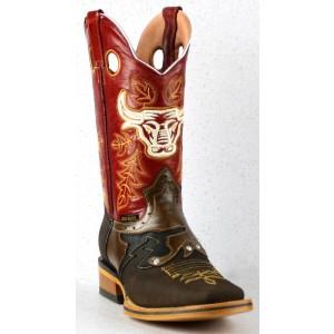 Jugo Boots® 948 Bota de Hombre Rodeo Sombra Jar Café