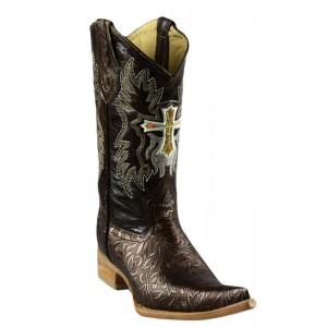 JUGO Boots® 2065 Bota de Hombre Vaquera Cincelado Bronce
