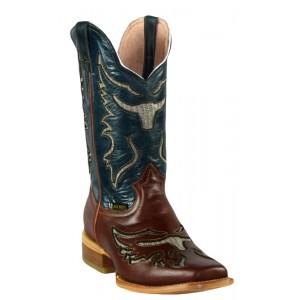 Jugo Boots® 943 Bota de Hombre Rodeo Crazy Jar Cognac (Cera)