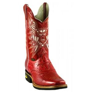 Jugo Boots® 935 Bota de Hombre Rodeo Grinta Rojo (Avestruz J)